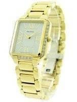 Citizen Ciena Diamonds Eco-Drive Gold Tone EM0192-57A Women's Watch