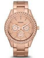 Fossil Stella Multifunction Crystals ES3003 Women's Watch