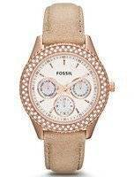 Fossil Stella Multifunction Crystal Leather ES3104 Women's Watch