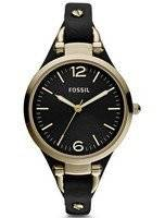 Fossil Georgia Black Dial Gold-Tone ES3148 Women's Watch