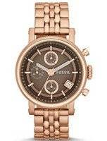 Fossil Original Boyfriend Chronograph Rose Gold-Tone ES3494 Women's Watch