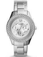 Fossil Stella Multifunction Crystal-Accented Silver-Tone ES3588 Women's Watch