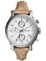 Fossil Original Boyfriend Chronograph White Dial ES3625 Women's Watch