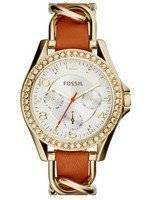Fossil Riley Multifunction Quartz Crystals Accents ES3723 Women's Watch