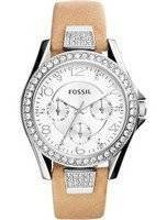 Fossil Riley Multifunction Quartz Crystals Accents ES3889 Women's Watch