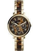 Fossil Jacqueline Multifunction Chronograph Gold Tone Stainless Steel ES3925 Women's Watch