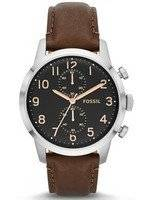 Fossil Townsman Chronograph Brown Leather Strap FS4873 Men's Watch