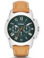 Fossil Grant Chronograph Tan Leather FS4918 Men's Watch