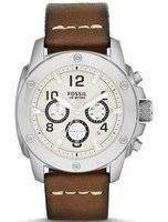 Fossil Modern Machine Chronograph Brown Leather FS4929 Men's Watch