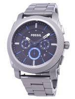 Fossil Machine Quartz Chronograph Black Dial Gunmetal Ion-Plated FS4931 Men's Watch