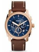 Fossil Machine Chronograph Quartz Brown Leather Strap FS5073 Men's Watch