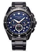 Ouro de Aries inspirar relógio Atlântico Cronógrafo Quartz G 7002 BK-BU masculino
