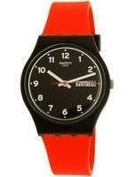 Swatch originais sorriso vermelho GB754 Unisex relógio de quartzo