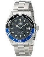 Relógio Invicta Pro Diver 200m automático WR mostrador preto aço inoxidável 15584 dos homens