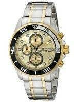 Invicta Specialty Chronograph Gold Dial Two Tone Stainless Steel 17014 Men's Watch