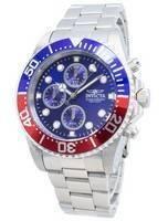 Relógio Invicta Pro Diver Chronograph 200m Dial azul INV1771/1771 dos homens