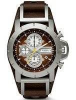 Fossil Jake Chronograph Brown Leather JR1157 Men's Watch