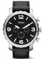 Fossil Nate Chronograph Black Dial JR1436 Men's Watch