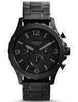 Fossil Nate Chronograph Black Dial JR1470 Men's Watch