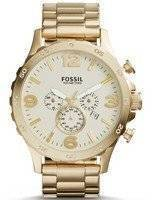 Fossil Nate Chronograph Gold-Tone JR1479 Men's Watch