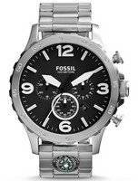Fossil Nate Chronograph Black Dial JR1490 Men's Watch