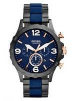 Fossil Nate Chronograph Quartz 100M JR1494 Men's Watch