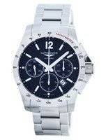 Longines Conquest Automatic Chronograph Tachymeter Scale L2.743.4.56.6 Men's Watch