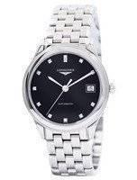 Longines Flagship automatico diamanti quadrante nero L4.774.4.57.6 orologio uomo