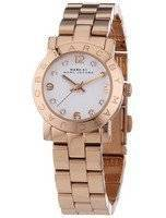 Marc By Marc Jacobs Mini Amy Quartz hvit ring Rose Gold Tone MBM3078 kvinner's klokke