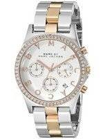 Marc By Marc Jacobs Henry Chronograph Crystals Silver Dial MBM3106 Women's Watch