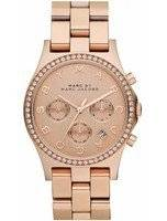Marc By Marc Jacobs Henry Chronograph Crystals Rose Gold Dial MBM3118 Women's Watch
