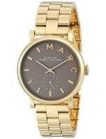 Marc By Marc Jacobs Baker Quartz Grey Dial Gold Plated MBM3281 Women's Watch