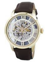 Fossil Townsman Automatic Skeleton Dial Brown Leather ME3043 Men's Watch