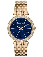 Michael Kors Darci Blue Dial Quartz Gold Tone Crystals MK3406 Women's Watch