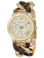 Michael Kors Chain Link Acrylic Gold-Tone MK4222 Women's Watch