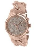 Michael Kors Runway Twist Rose Gold-Tone Crystals MK4283 Women's Watch
