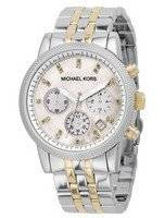 Michael Kors Two-Tone Bracelet Crystals MK5057 Womens's Watch