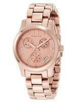 Michael Kors Runway Rose Gold Tone Chronograph MK5430 Women's Watch