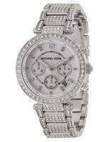 Michael Kors Parker Mother of Pearl Dial Crystals MK5572 Women's Watch