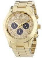 Michael Kors Layton Glitz Gold Tone Crystal Dial MK5830 Women's Watch