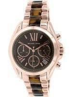 Michael Kors Bradshaw Chronograph Tortoise Shell Acetate MK5944 Women's Watch