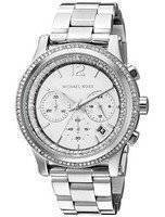 Michael Kors Heidi Chronograph Crystal Silver Dial MK6062 Women's Watch