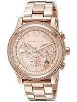 Michael Kors Heidi Chronograph Rose Crystal Dial MK6064 Women's Watch