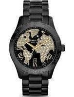 Michael Kors Layton Crystals Black IP MK6091 Women's Watch