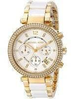 Michael Kors Parker Multi-function White Dial MK6119 Women's Watch