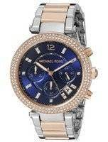 Michael Kors Parker Chronograph Two Tone Crystals MK6141 Women's Watch
