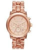 Michael Kors Audrina Chronograph Rose Dial MK6203 Women's Watch