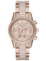 Michael Kors Ritz Chronograph Quartz Crystal Accent MK6307 Women's Watch