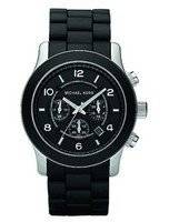 Michael Kors Runway Chronograph Black Polyurethane MK8107 Men's Watch