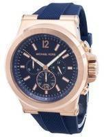 Michael Kors Chronograph Dylan Navy Silicone Strap MK8295 Men's Watch
